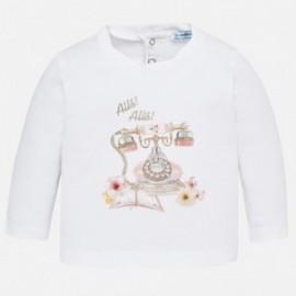 Mayoral 2050-17 tričko pro dívky barva bílá/růžová