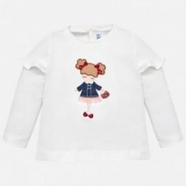 Mayoral 2058-61 Dívčí tričko s dlouhým rukávem krém