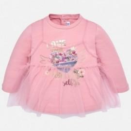 Mayoral 2064-15 Dívčí košile tulle barvy růží