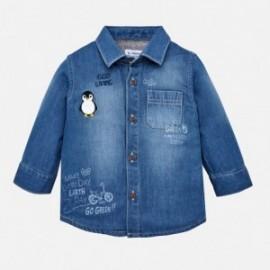 Mayoral 2126-5 Chlapčenská košile džíny barva modrý