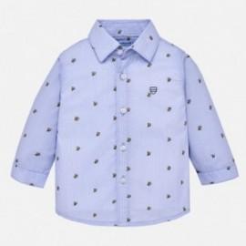 Mayoral 2130-23 košile chlapecké modré barevné vzory