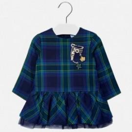 Mayoral 2926-18 šaty holčičí kostkovaný barva námořnictva