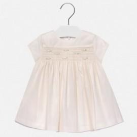 Mayoral 2932-51 Dívčí šaty krémová barva