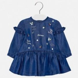 Mayoral 2950-5 šaty holčičí džíny barva námořnictva