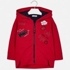 Mayoral 4425-94 Dívčí mikina červená barva