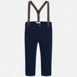Mayoral 4518-78 Chlapčenské kalhoty se šlemi, barvy námořnictva