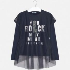 Mayoral 7066-43 Dívčí tričko barva granát