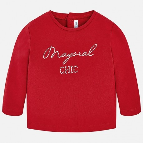 Mayoral 116-42 Tričko pro dívky červená barva
