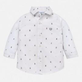 Mayoral 2130-24 Chlapčenská košile bílé vzory barev