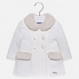 Mayoral 2482-55 Dívčí kabát krémová barva