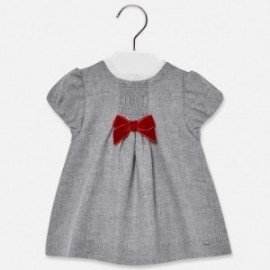 Mayoral 2914-3 Šaty pro dívky stříbrné
