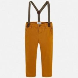 Mayoral 4518-79 Chlapčenské kalhoty se zarážkami barva sušenka