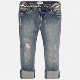 Mayoral 4542-84 dívčí kalhoty džíny barva modrý