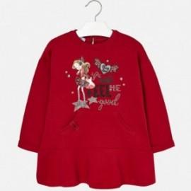 Mayoral 4977-33 Šaty pro dívky červené