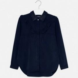Mayoral 7120-21 Dívčí halenka džíny tmavě modrá barva