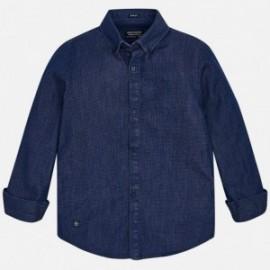 Mayoral 7142-68 košile chlapci jeans barva námořnictva