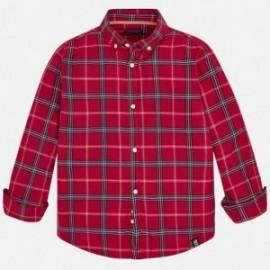 Mayoral 7146-28 Košile pro chlapce v koberečku třešňové barvy