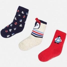 Mayoral 10441-25 Sada dětských ponožek červená/tmavě modrá