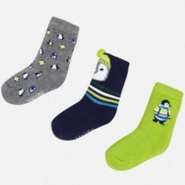 Mayoral 10441-26 Sada dětských ponožek zelená / tmavě modrá