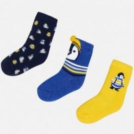 Mayoral 10441-27 sada ponožky chlapectví barva granát/modrý/žlutě