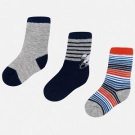 Mayoral 10442-30 sada ponožky chlapectví barva šedá/černá