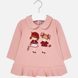 Mayoral 2936-51 Dívčí šaty barva růží