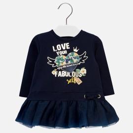 Mayoral 2948-49 šaty holčičí barva granát
