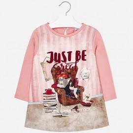 Mayoral 4972-90 Dívčí šaty růžové barvy