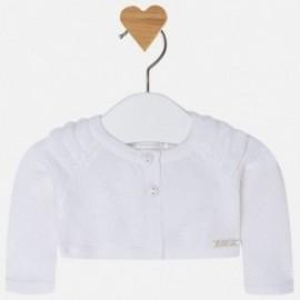 Mayoral 1302-20 svetr dívčí bílá barva