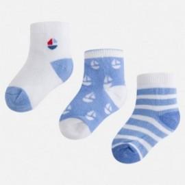 Mayoral 9723-59 ponožky chlapci modrá barva
