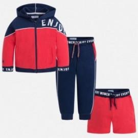 Mayoral 3814-17 track-suit chlapecký 3 díly barva červená/granát