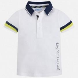 Mayoral 3142-69 Polo chlapci bílé barvy