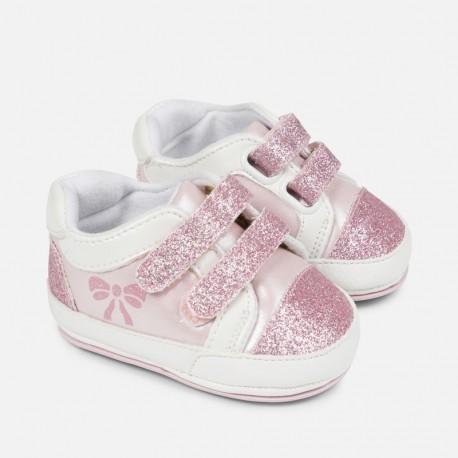 Mayoral 9807-10 Dětské tenisky pro dívku růžové barvy
