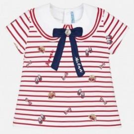 Mayoral 1024-63 tričko holčičí červená barva