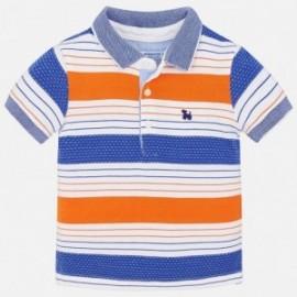 Mayoral 1132-73 pólo chlapci barva bílá/modrý/oranžová