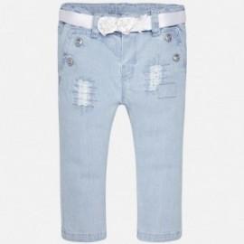 Mayoral 1526-5 kalhoty dívčí lehká džínová barva