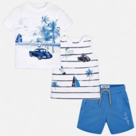 Mayoral 1692-79 sada chlapecký barva bílá/modrá