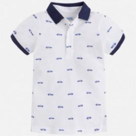 Mayoral 3130-55 Chlapecké tričko s potiskem bílé barvy