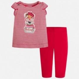 Mayoral 3710-43 dívčí oblek v červené barvě