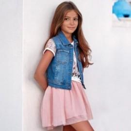 Mayoral 6406-71 Vesta pro dívku džíny s flitry barva modrý
