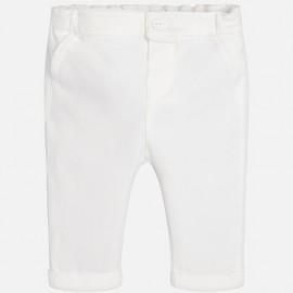 Mayoral 2526-59 Chlapčenské kalhoty dlouhá krémová barva