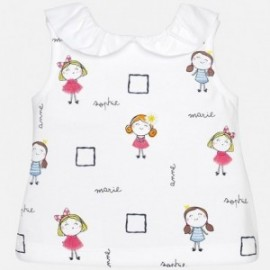 Mayoral 1032-91 Dívčí tričko barva fuchsie