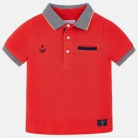 Mayoral 3132-10 Chlapecké polokošile červená barva