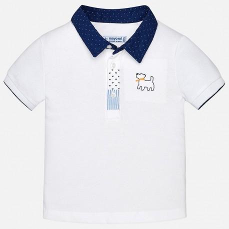 Mayoral 1128-78 Polo tričko pro chlapce bílé barvy