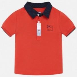 Mayoral 1128-80 Polo tričko pro chlapce červená barva