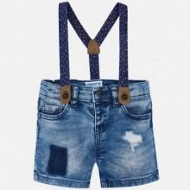Mayoral 1296-31 Bermudy chlapci džíny barva modrý