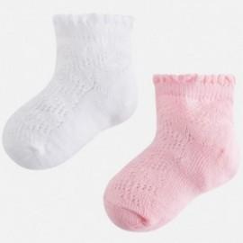 Mayoral 10398-63 Dívčí ponožky 2 páry růžové