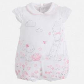 Mayoral 1736-10 Pyžama pro dívky bílé