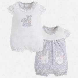 Mayoral 1740-14 Dívčí pyžama 2 kusy perleťové barvy