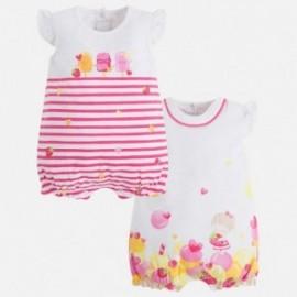 Mayoral 1762-14 Pyžama pro dívku 2 kusy růžové barvy